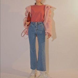 🆕 Light blue flat denim jeans